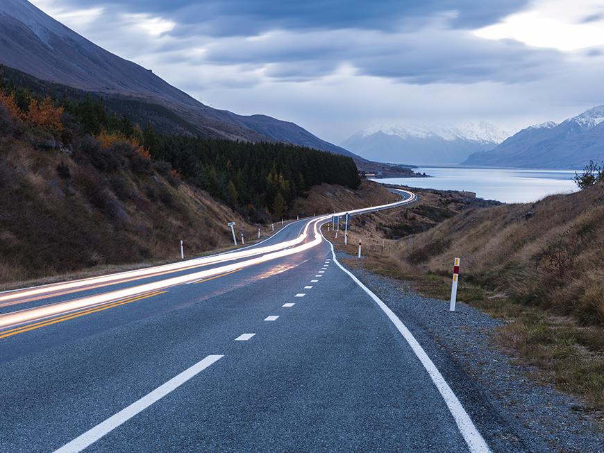 Route vers le Mont Cook - Nouvelle-Zélande : découvrez l'Île du Sud