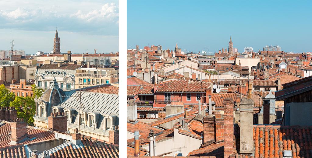 Vue sur les toits de la ville de Toulouse