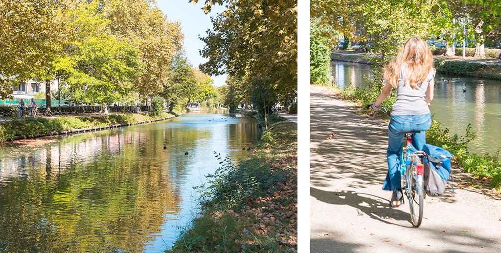 Balade à vélo le long de la Garonne du pont neuf au pont saint Pierre