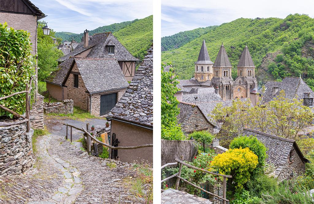 Visite du village de Conques - Article Rodez à travers Pierre Soulages