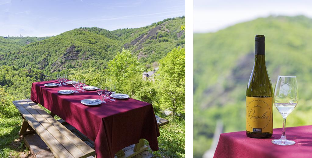 Pique nique sur les hauteurs de Conques dans l'Aveyron - Article Rodez à travers Pierre Soulages
