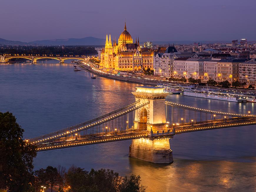Vue depuis le Château de Buda à Budapest
