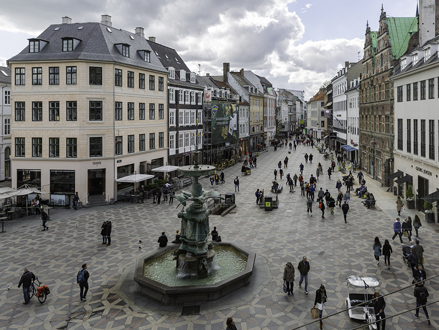 Rue Stroget - Copenhague