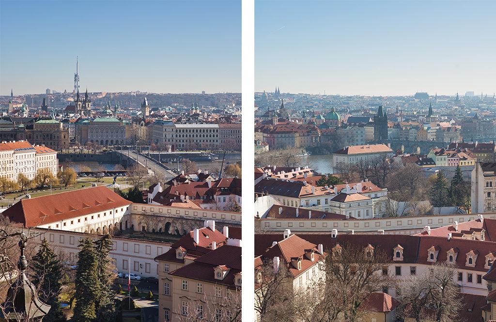 Vue depuis la Cathédrale Saint Guy de Prague