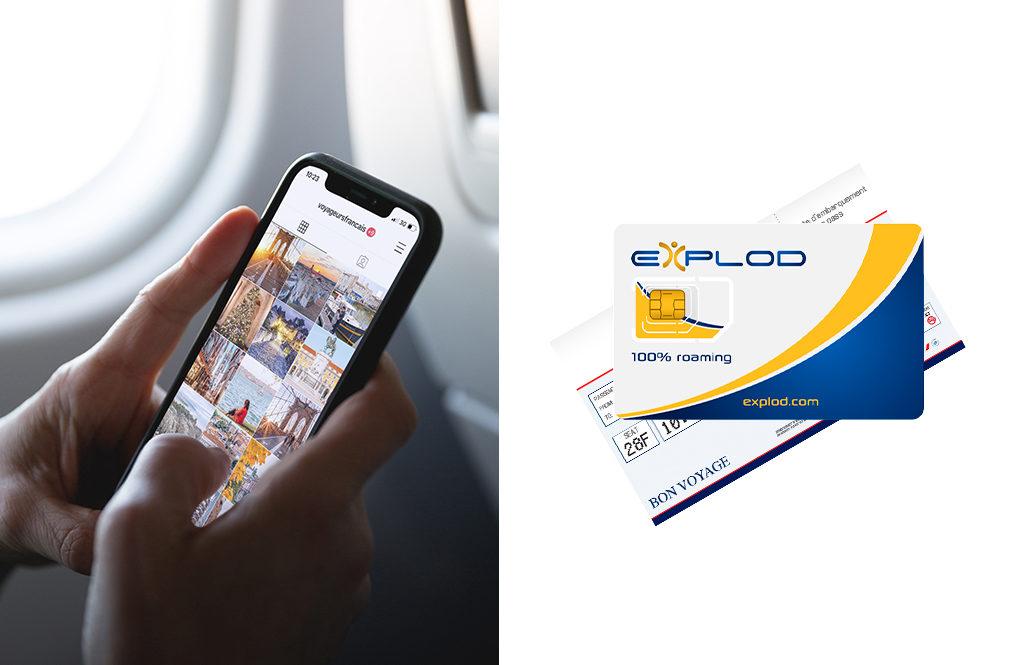 Carte SIM Explod pour voyager à l'étranger