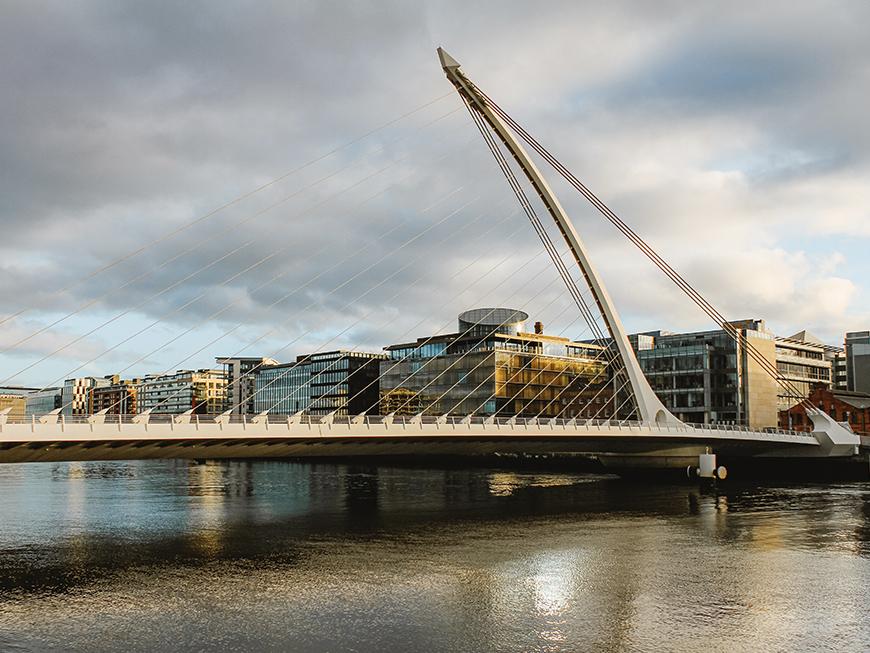 Pont Samuel Beckett Bridge à Dublin