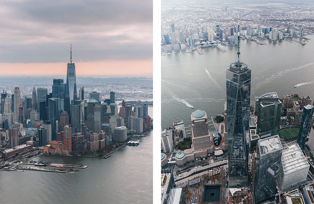 New York en hélicoptère - Le sud de Manhattan avec le One World Trade Center
