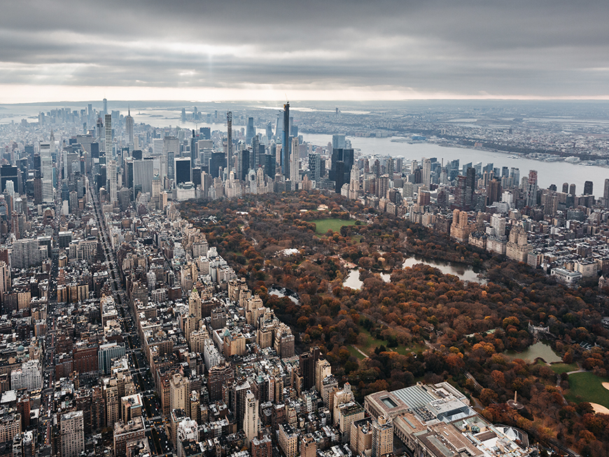 New York en hélicoptère - Central Park