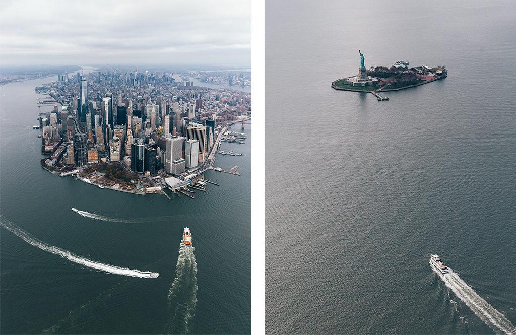 New York en hélicoptère - Manhattan et la Statue de la Liberté