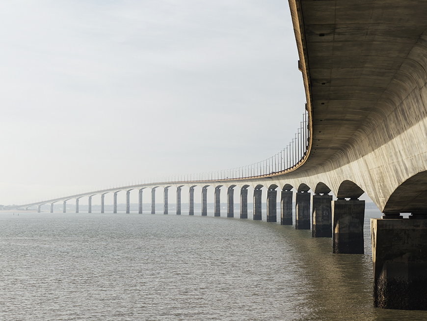 Pont pour se rendre sur l'Île de Ré