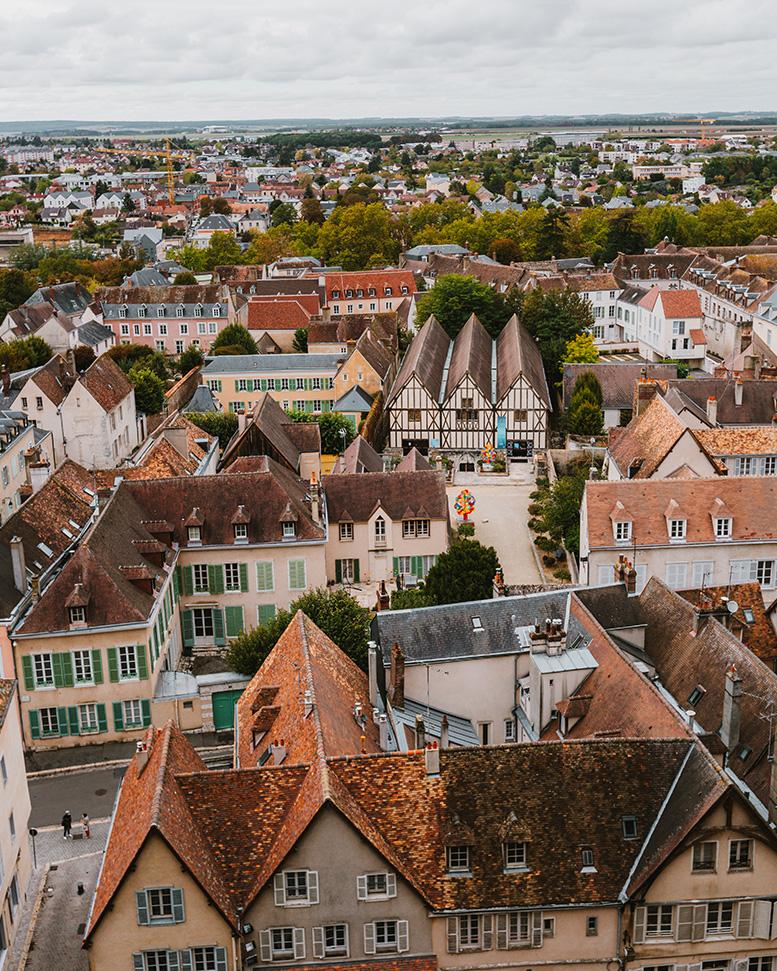 Vue depuis la Cathédrale de Chartres - Escapade à Chartres en Eure-et-Loir