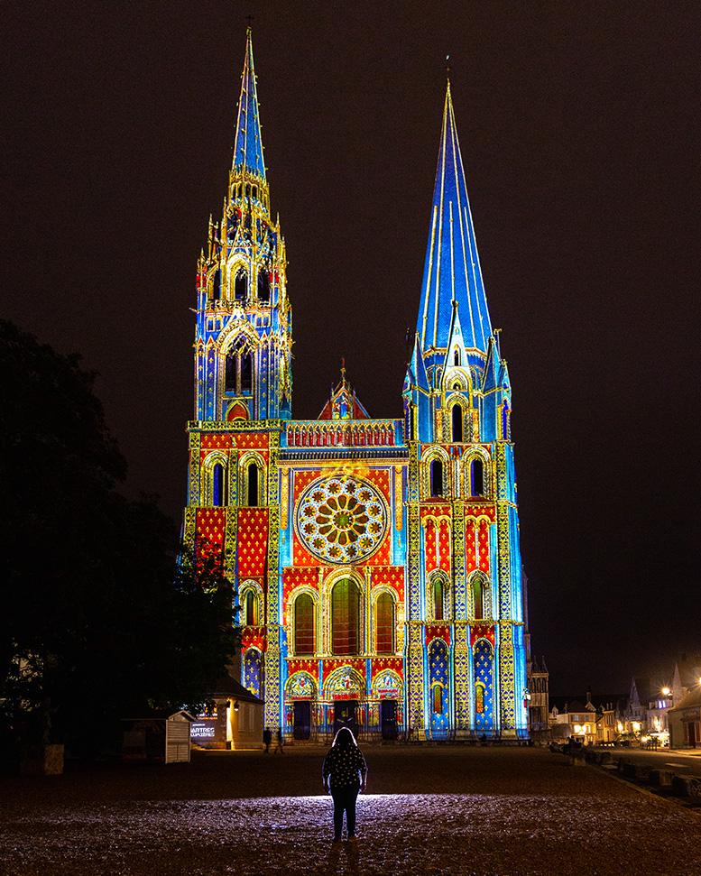 Cathédrale de Chartres en lumière - Escapade à Chartres en Eure-et-Loir
