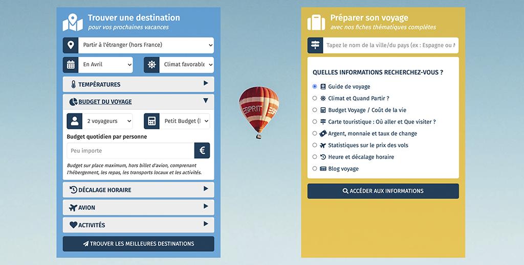 Nos astuces pour voyager moins cher - Cature d'écran site Ou et Quand