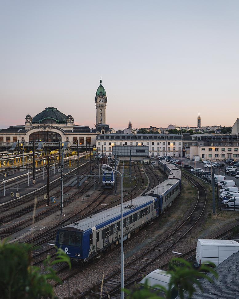 Photo avec vue sur la gare de Limoges